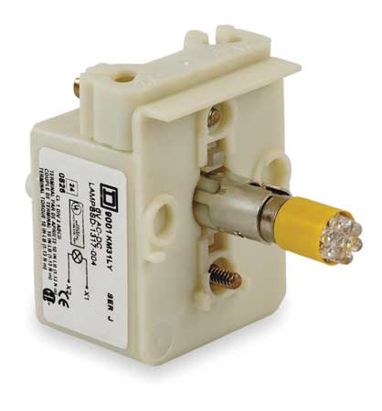 Lamp Module, 30mm, 12-14VAC/VDC, Yellow, LED