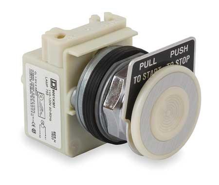 Illum Push Button Operator, 30mm, White