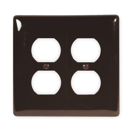 Duplex Wall Plate, 2 Gang, Brown