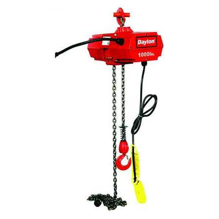 Electric Chain Hoist, 1000 lb., 15 ft.