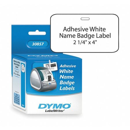 "2-1/4"" x 4"" White Adhesive Label,  Paper"