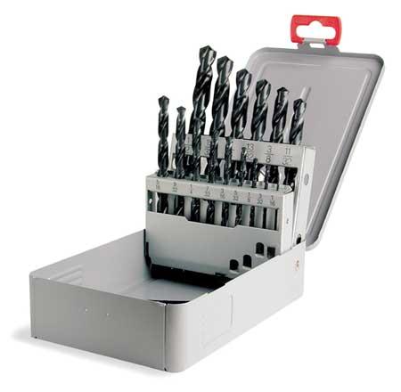 Jobber Drill Set, 15 PC, HSS, 118 Deg