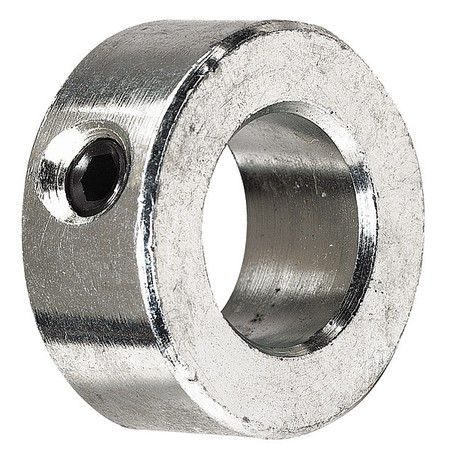 Shaft Collar, Set Screw, 7/16 In, St, PK3