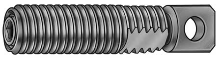 Spring Anchor, Swivel, LCS, Blk, 8-32 x 7/8