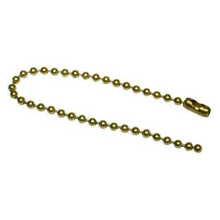 Beaded Chain, Brs, Brs Pld, 6 In, PK100