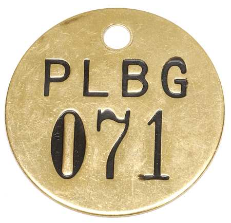Numbered Tag, 1-1/2 In., 51-75, PK25