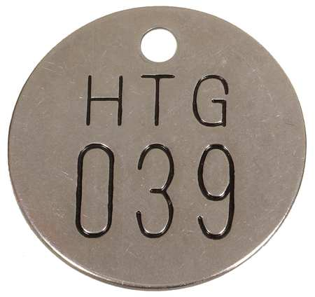 Numbered Tag, 1-1/2 In., 26-50, PK25