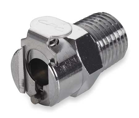 "3/8"" MNPT Chrome Plated Brass Inline Coupler"