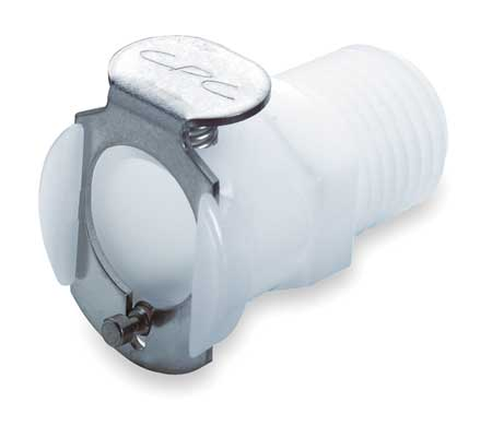 Inline Coupler, Acetal, Shut-Off, MNPT