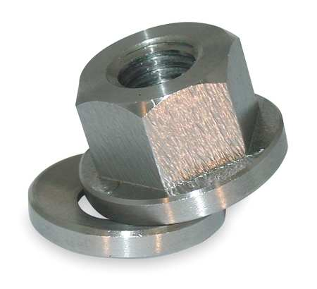 Spherical Flange Nut, 1/4-20, Gr 18-8, SS