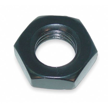 "1/2""-13 Grade 2 Black Oxide Finish Alloy Steel Heavy Jam Hex Nut,  1 pk."