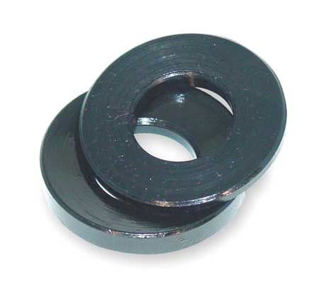 "7/16"",  1/2"" x 1-1/8"" OD Black Oxide Finish Steel Spherical Washer Assembly"