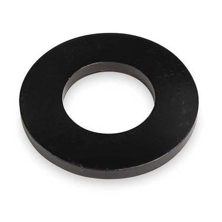 "#4 x 5/16"" OD Black Oxide Finish Case Hardened Steel Flat Washer"