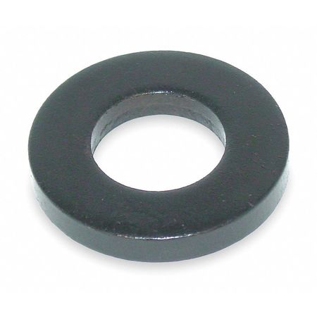 "7/16"" x 1"" OD Black Oxide Finish Grade 5 Steel Flat Washer"