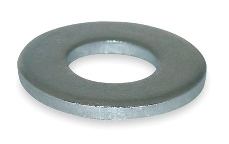 "3/8"" x 13/16"" OD Zinc Plated Finish Low Carbon Steel Flat Washers,  100 pk."