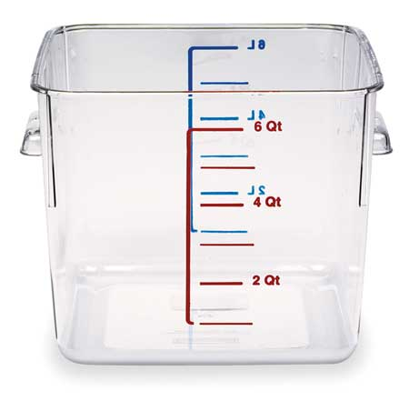 Square Storage Container, 6 qt, Clear