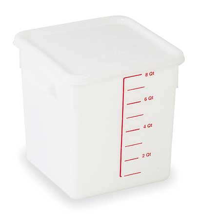 Square Storage Container, 8 qt, White