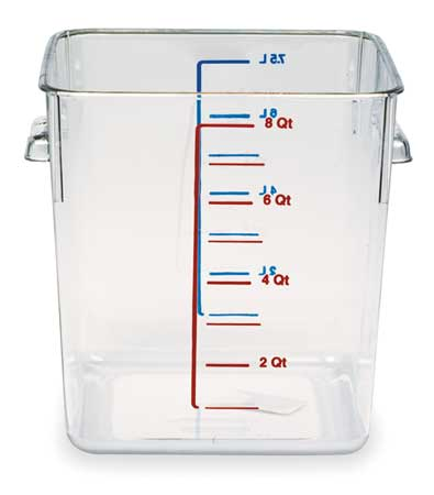 Square Storage Container, 8 qt, Clear