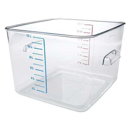 Square Storage Container, 12 qt, Clear
