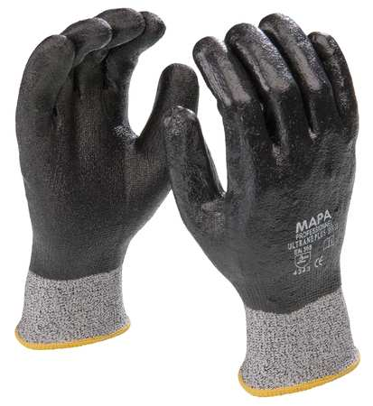 Coated Gloves, Gray/Black, M, PR