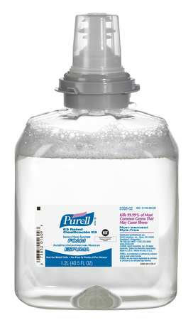Hand Sanitizer Refill, Foam, 1200mL, PK2