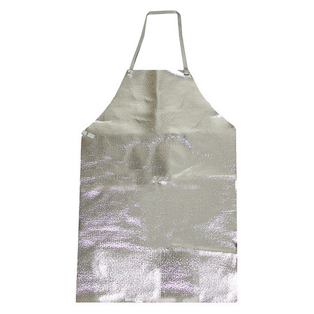 Bib Apron, Aluminized, 36 In. L, 24 In. W