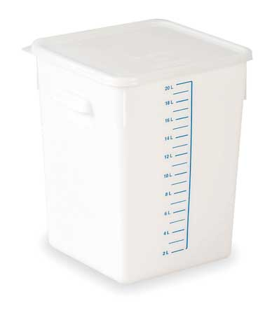 Square Storage Container,  18 qt,  White