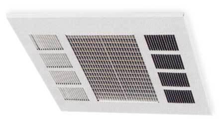 Convection Ceiling Heater, 240V, 17, 100Btu