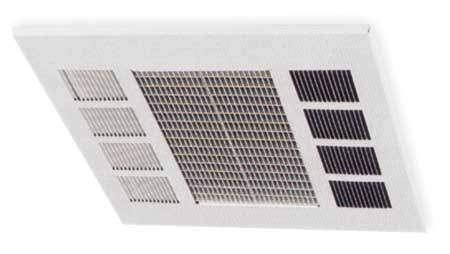 Convection Ceiling Heater, 208V, 17, 100Btu