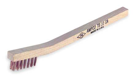 Nonsparking Scratch Brush, Bronze, 3 Rows