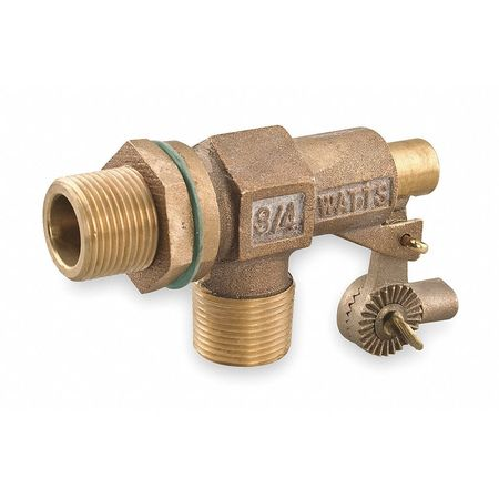 Float Valve, 3/4 In, Bronze, Bulkhead Mount