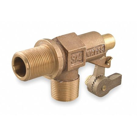 Float Valve, 3/4 In, Bronze, Pipe Mount