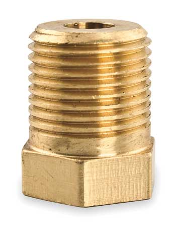 Adaptor, 3/8 NPT x 5/16-18, Brass