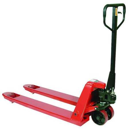 Pallet Jack, Narrow, 5500 lb Cap, Steel