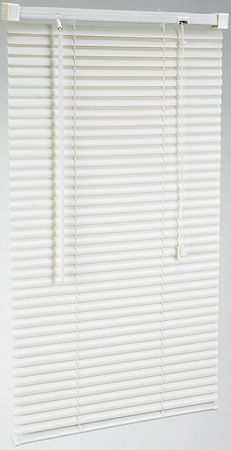 Mini Blinds, L 48 In, W 47 In,  Alabaster