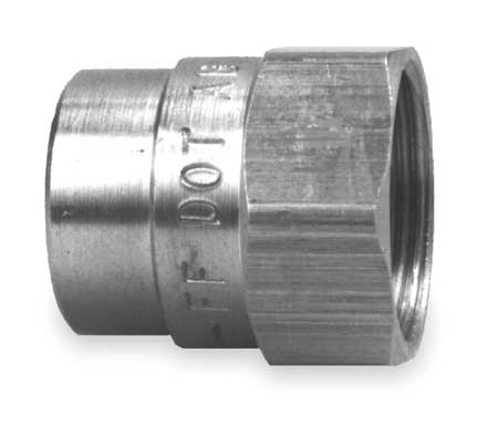 Nut Fitting, 7/8 In OD, Brass, PK10