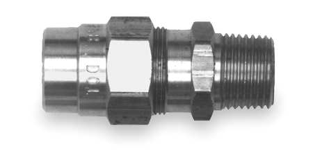 Male Connector Fitting, 1/2-14, Brass
