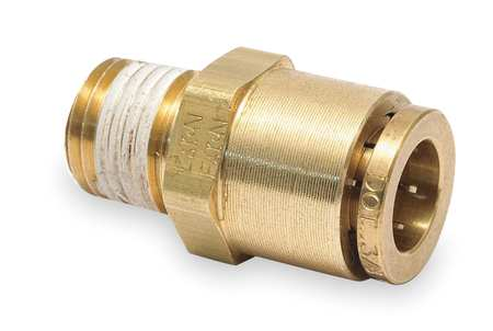 Male Connector, 1/8-27, 1/4 In Tube Sz