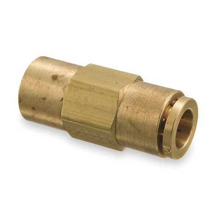Female Connector, 3/8-18, 3/8 In Tube Sz
