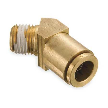 Male Connector, 45 Deg, 1/4 In Tube Sz