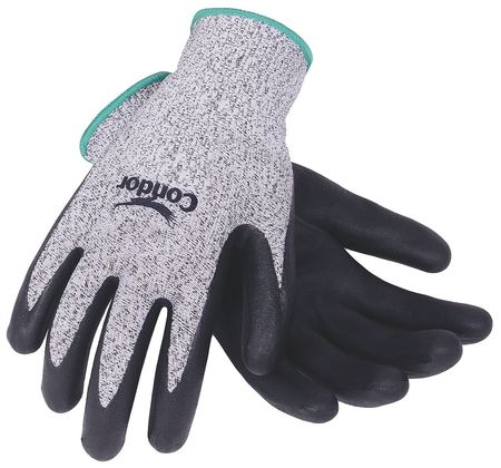 Cut Resistant Gloves, Gray/Black, M, PR