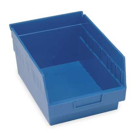 Shelf Bin, 17-7/8 In. L, 6 In. H, Blue