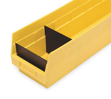 Shelf Bin Divider, W 6 5/8 In, PK50