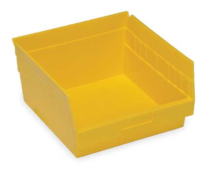 Shelf Bin, 11-5/8 In. L, 6 In. H, Yellow