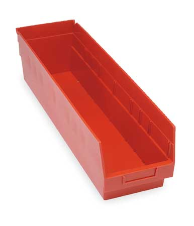 Shelf Bin,  23-5/8 In. L, 6-5/8 In. W, 6 In H