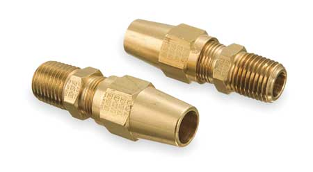 Male Connector, 1/8-27, 3/8 In Tube Sz