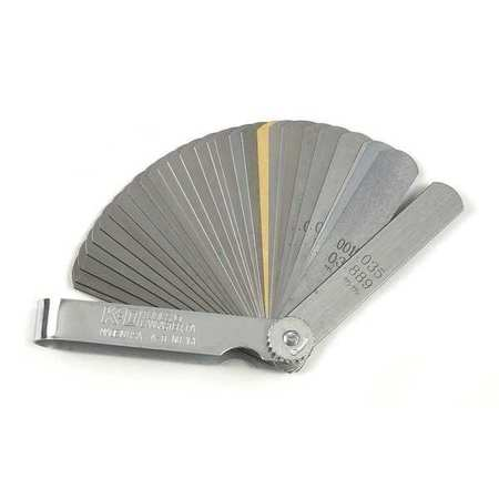 Feeler Gauge, 32 Blade, 0.0015 to 0.035 In