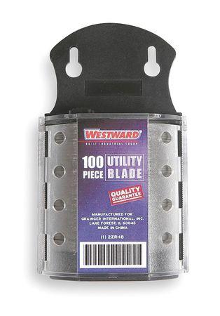 "2-Point Utility Blade, 23/32"" W,  PK100"