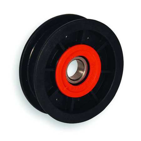 V-Belt Idler Pulley, 5/8 In Flat Belt