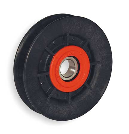 V-Belt Idler Pulley, B Belt Type, 4 In O D
